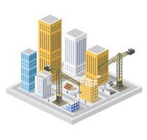 Industrial construction isometrics vector
