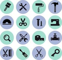 flat computer icons vector