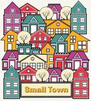 A small town vector