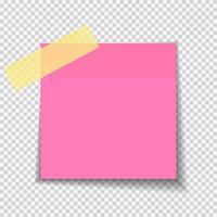 nota de papel adhesivo vector