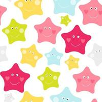 Cute Children's Seamless Pattern Background with Stars vector