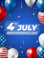 July 4 Independence Day in USA Background. Can Be Used as Banner or Poster vector