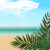 Abstract Empty Natural Exotic Tropical Background. Can be used as Poster Sale, ads or Card vector