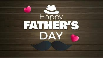 Happy Father's Day Background Poster, flyer, greeting card or header for website vector