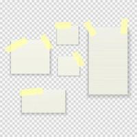 conjunto de colección de paquetes de notas adhesivas de papel vector