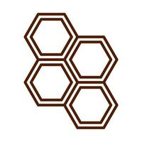 healthy food fresh nutrition honey hive line style icon vector