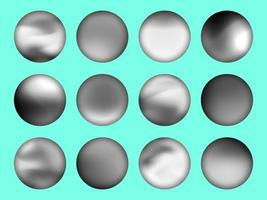 Black and white gradient set with the blurred circle background design Vector illustration