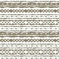 Brown winter abstract horizontal Seamless repeat border pattern on white background Random rough twisted part of triangles or broken lines zigzags circles or big dots shapes Hand drawn effect vector