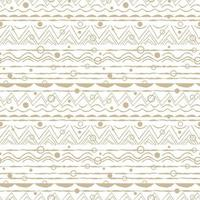 Beige white abstract seamless repeat endless pattern Ovals semicircles rainbows lines dots circles and other shapes Rough curved lines hand drawn emulation effect vector