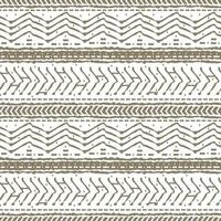 Brown Scandinavian white abstract seamless repeat endless pattern broken and dotted line zigzag circles or dots and other shapes Rough curved lines hand drawn emulation effect vector