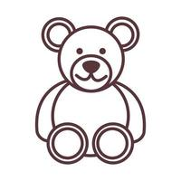 baby teddy bear toy object newborn template line design icon vector