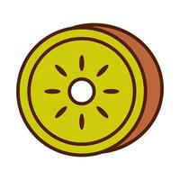 healthy food fresh fruit kiwi product line and fill style icon vector