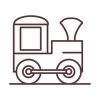 baby train wagon toy object newborn template line design icon vector