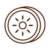 healthy food fresh fruit kiwi product line style icon vector