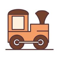 baby train wagon toy object newborn template line and fill design icon vector