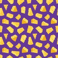 cheese seamless pattern. vector illustration