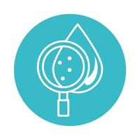 analysis water drop nature liquid blue block style icon vector