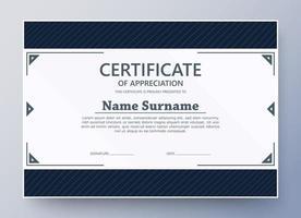 Membership certificate best award diploma vector