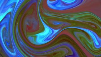 vórtice orgánico abstracto interminable surrealista hipnotizador en superficie detallada pintura colorida se extiende video