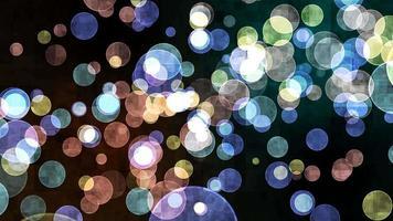 blocco di torsione dinamico arcobaleno bolla dimensione divina bokeh sfocatura absract sfondo scuro dello schermo video