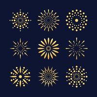 Fireworks Icon Collection vector