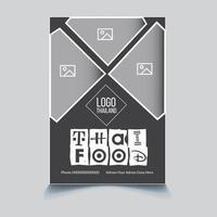 Food Business Flyer Design Dl Flyer Rack Card For Marketing vector