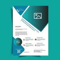 Medical Flyer Design Dl Flyer Rack Card For Hospital vector