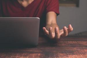 Human hand gestures for activities photo