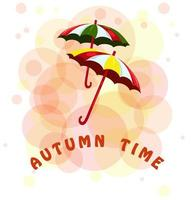 Vector image of umbrellas