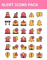 set of 30 alert warning icons pack vector