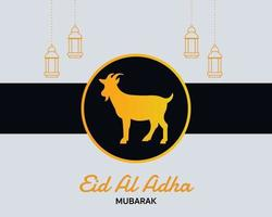 Simple Elegant Eid Al Adha Greeting Card vector
