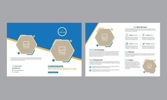 plantilla de folleto de catálogo de plantilla de folleto plegable corporativo y totalmente editable vector