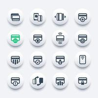 credit cards icons set for mobile banking apps and contactless payment or add new card vector