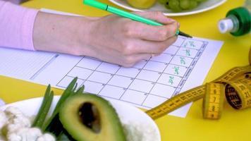 A Diet Calendar Being Filled Out video