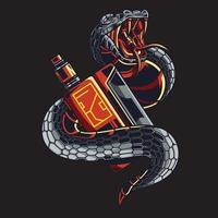 snake vape illustration vector