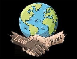 amor y paz mundial vector