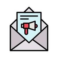 icono de marketing por correo electrónico vector