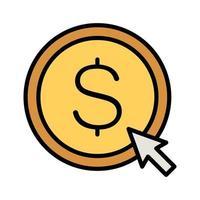 Pay Per Click Icon vector