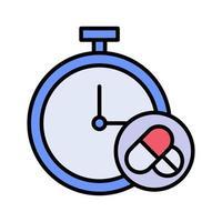 Medicine Reminder Icon vector