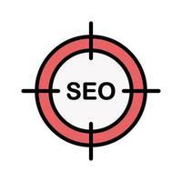 Seo Target Icon vector