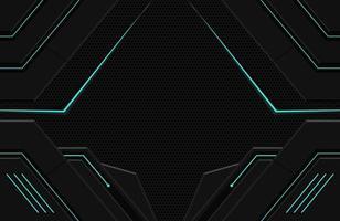 Ilustración de fondo de techno oscuro realista 3d forma geométrica abstracta futurista moderno vector