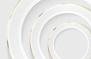 Modern minimal and clean white paper cut background with realistic circle shape vector