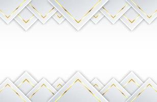 Modern white background with shiny gold circle element Abstract light silver clean surface vector