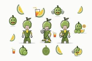 Durian character set vector template