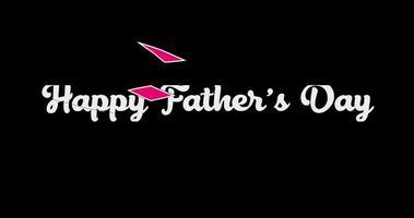 titre d'animation de la fête des pères heureux avec canal alpha video