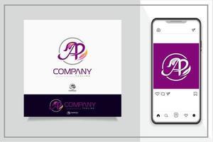 A P letter logo vector