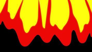 elemento de transição de fogo de desenho animado video
