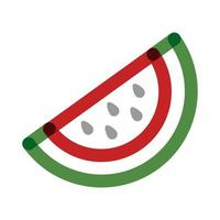 watermelon half fruit multiply line style icon vector
