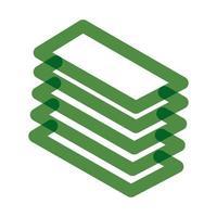 bills dollar multiply line style icon vector