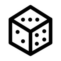 icono de estilo de línea de dados de casino vector